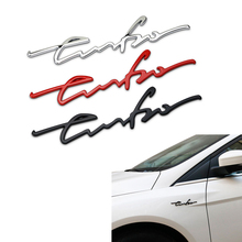 1Pcs 3D Car Styling Sticker Metal TURBO Emblem Body Rear Tailgate Badge for Decoration