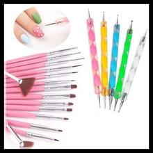 Nail Art 20PCS UV Gel Design Pen Painting Brush Set for Salon Manicure Tips Tool