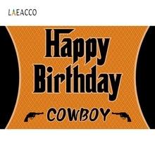 Laeacco Cartoon US West Cowboy Backdrop Baby Portrait Photography Background Customized Photographic Backdrops For Photo Studio цена