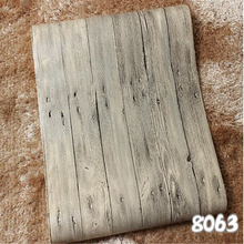 beibehang Imitation wood-grain wood floor wallpaper Chinese-style retro wood texture bar restaurant clothing store wholesale res