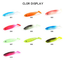 8Pcs/Package 5.5cm Luya 3D Soft Fish Lure T-tail Super Sea Fishing Squid Bait Free Shipping