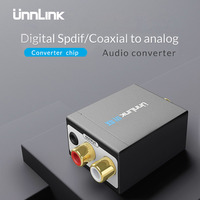 Unnlink Updated Digital To Analog Audio Converter Adapter Digital Optical Fiber Coaxial RCA Toslink Signal To