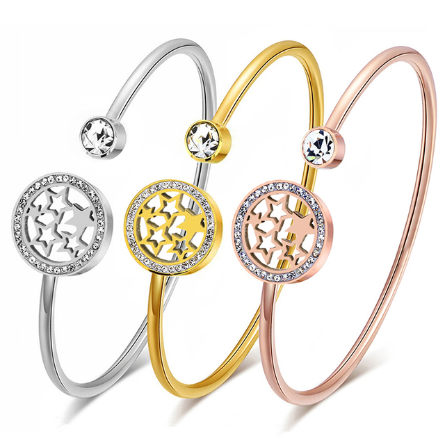 Женские браслеты манжеты и Обручи из нержавеющей стали