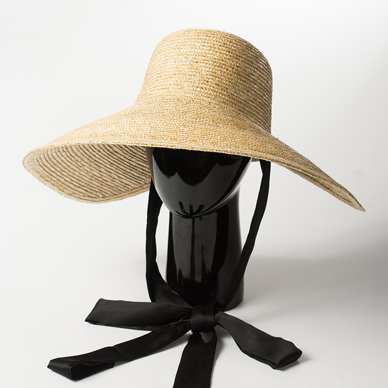 645d3ecccaab2 Detail Feedback Questions about Wide Brim Hat Women Summer Vintage Sun Hat  with Ribbon Ties 2018 Beach Straw Bucket Hatsfor Ladies Floppy Hats Elegant  ...
