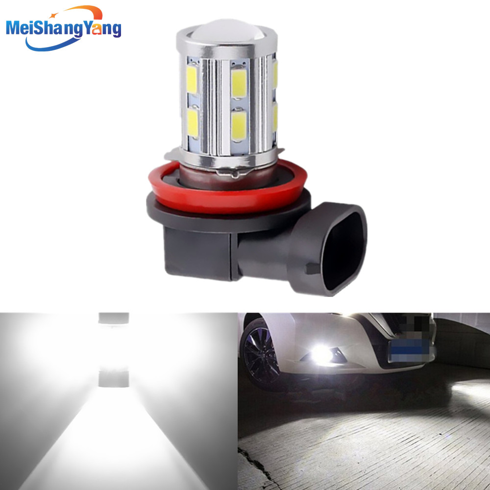 H8 H11 LED vysoký výkon 12 SMD 5730 5W cree čipy LED xenonová bílá světla vedla auto žárovky auto světelný zdroj mlhová lampa
