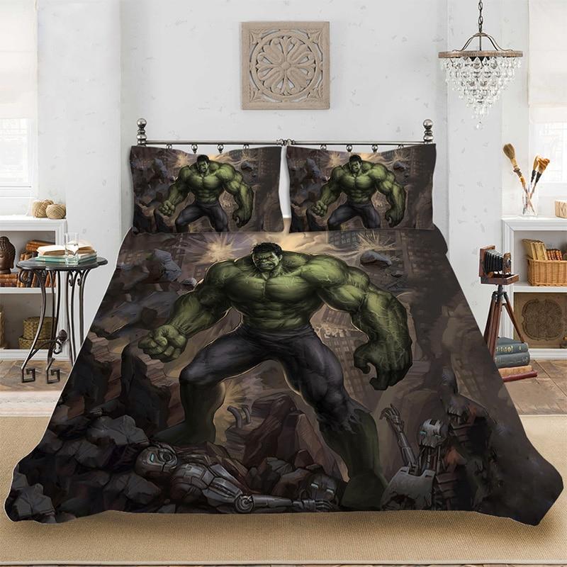 US $6.66 41% OFF|Marvel HD 3D Print Superhero Hulk Bedding set Bedclothes  Include Duvet Cover Pillowcase Print Home Textile Bed Linens-in Bedding  Sets ...