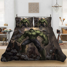 Marvel HD 3D Print Superhero Hulk Bedding set Bedclothes Include Duvet Cover Pillowcase Home Textile Bed Linens