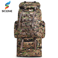 Hot 100L Large Capacity Outdoor Mountaineering Backpack Camping Hiking Military Molle Water repellent Tactical Bag Adjustable