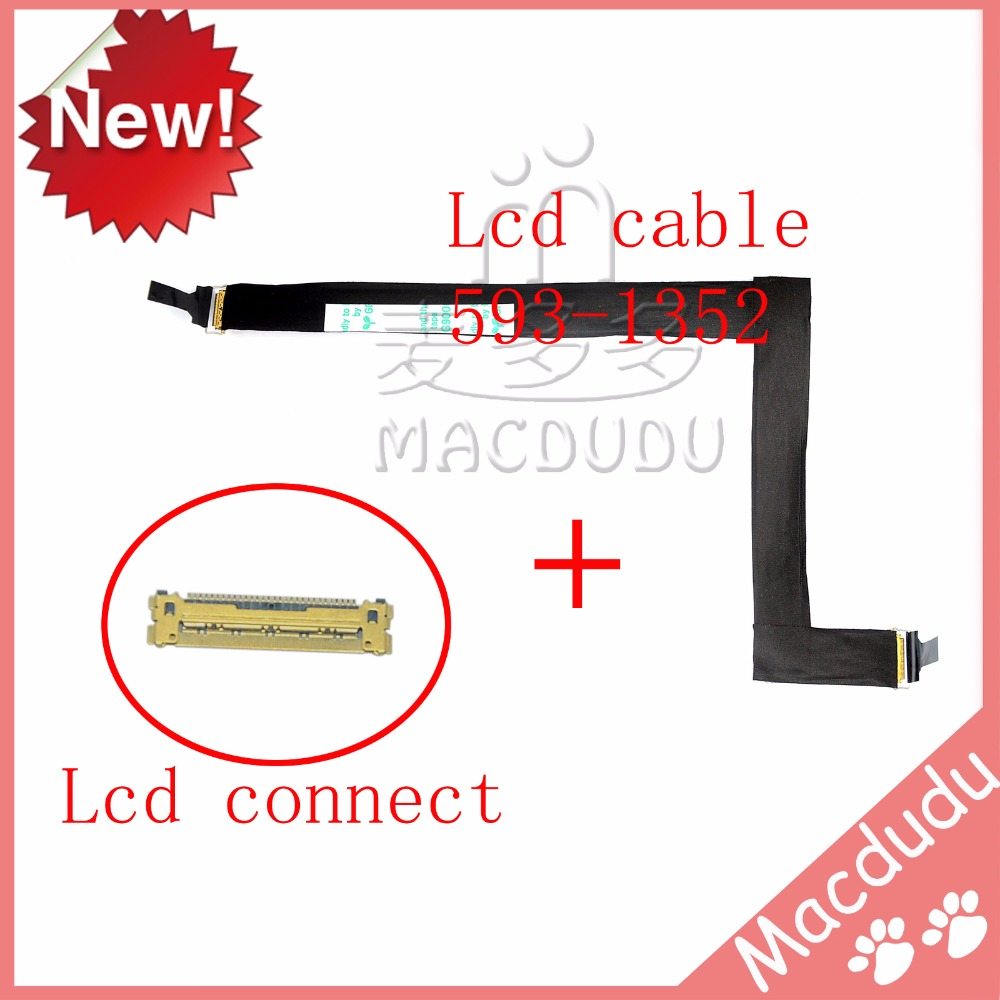 New LCD Screen Display Flex Cable With Connector For iMac 27 A1312 Mid 2011 MC813 593-1352 tablet lcd flex cable for microsoft surface pro 5 model 1796 lcd dispaly screen flex cable m1003336 004