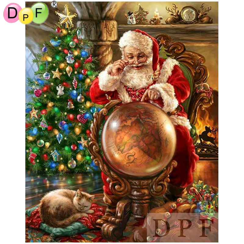 US $4.19 35% OFF|DPF diamond embroidery Look at the map of Santa Claus on oolitic map, oats map, tell city map, gulf of antalya on a map, headless horseman map, splashin safari map, santa and his reindeer, north pole map, track santa map, christmas map,