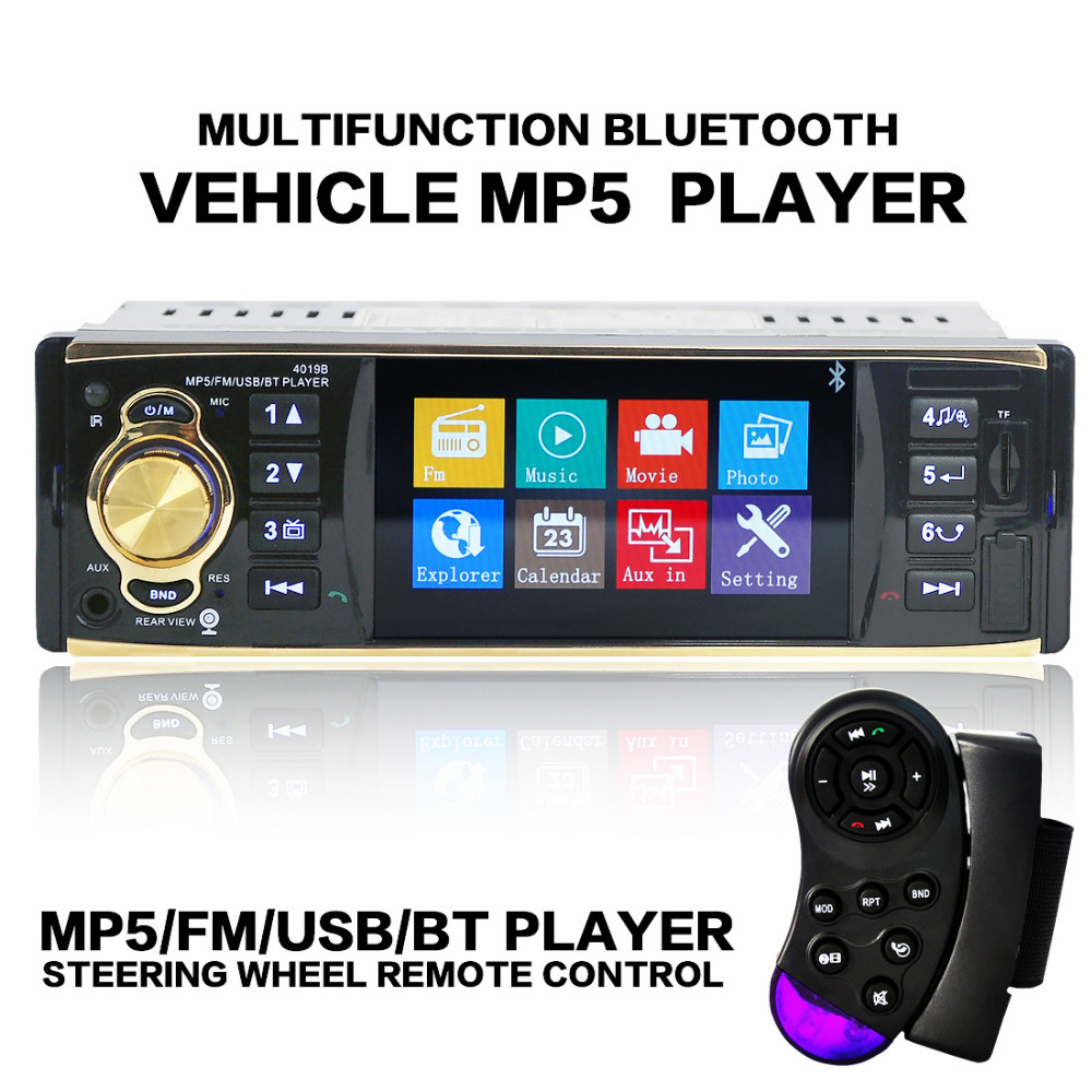 4.1 Bluetooth Car Stereo Audio In-Dash FM Aux Input Receiver SD USB MP3 Radio car usb sd aux adapter digital music changer mp3 converter for volkswagen beetle 2009 2011 fits select oem radios