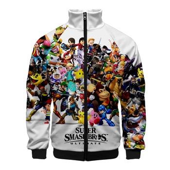 2019 Super Smash Bros.Ultimate Zipper Sweatshirt Casual Hoodies New Fashion Cool Spring Clothes