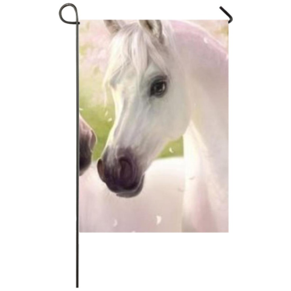 horse Pink Garden flag Seasonal Flags for Outdoors Garden Decor Flags in Flags Banners Accessories from Home Garden