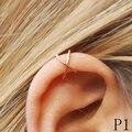 Preenchimento de ouro Ear Cuff, duplo Ear Cuff, Criss Cruz Ear Cuff, Nenhuma Perfuração, Cartilagem Da Orelha Cuff, Simples Falso Cartilagem Brinco presente