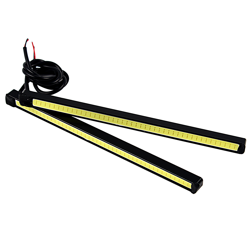 15.5cm COB Car DRL Super Bright Daytime Running lights Driving Fog Lamps LED Aluminum Housing DC 12V Car Styling #iCarmo suprer bright 2pcs 30cm 12v daytime running lights waterproof car drl cob driving fog lamp flexible led strip car styling