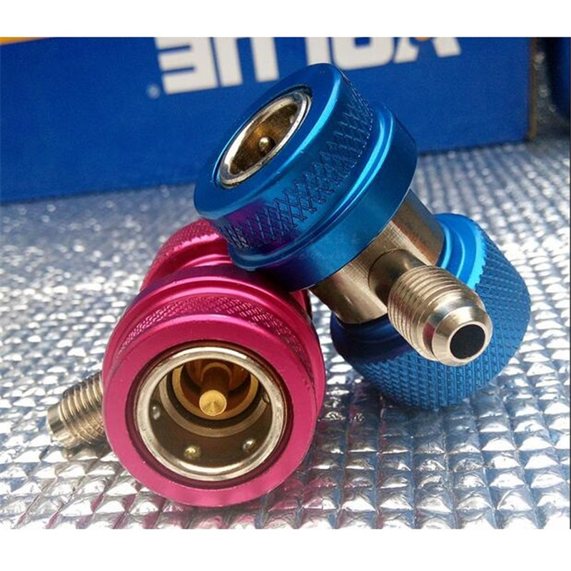 2pcs Nickel Plated Freon Coupler Adapters Air Condition Coupler Adapters Automotive Refrigerant Connector cequent ch0701 coupler handle
