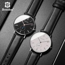 Bestdon смотреть Для мужчин минималистский Водонепроницаемый кварц двигаться Для мужчин t Элитный бренд Для мужчин часы модные Повседневное Классические наручные часы мужской новый