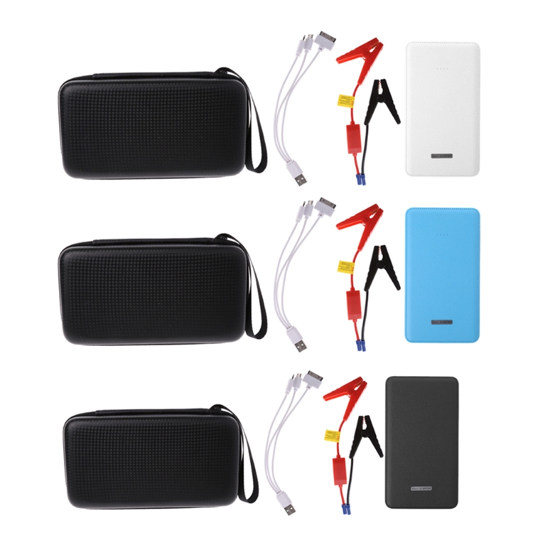 Portable LED 12V Car Jump Starter Battery Charger Booster Emergency Power Bank Auto Jump Starter best selling car jump starter 50800mah emergency starter 12v portable mini engine booster car power bank booster charger