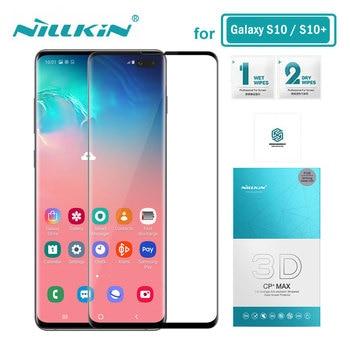 ba6bb2a1015 Nillkin de vidrio templado para Samsung Galaxy S10 más S10E 3D CP + Max  Protector de pantalla de la sfor Samsung S10 Plus de vidrio