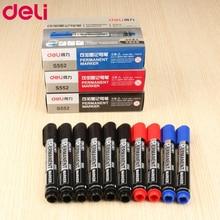 Deli marker pen wholesale oil blue red black markers office school stationary 1pcs pens PEN