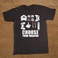 Los nuevos hombres del Verano Camiseta Elige Tu Arma Jugador Camiseta Video Game Controller Tee Algodón de Manga Corta Camiseta