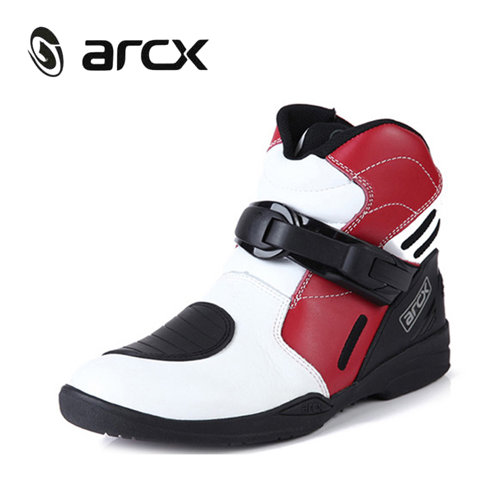 ARCX Motorcycle Road Racing Shoes Genuine Cow Leather Motorbike Street Moto Chopper Cruiser Touring Biker Riding Ankle Boots pro biker motorcycle shoes motocross racing shoes motorbike leather shoes waterproof size eu 40 45 a9001 swx brand moto