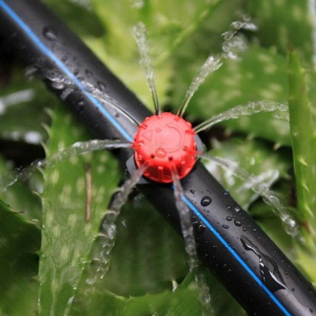 100 pçs/set aspersão jardim irrigação micro fluxo dripper gotejamento cabeça irrigação sprinklers ajustável água dripper cabeça goteros para riego