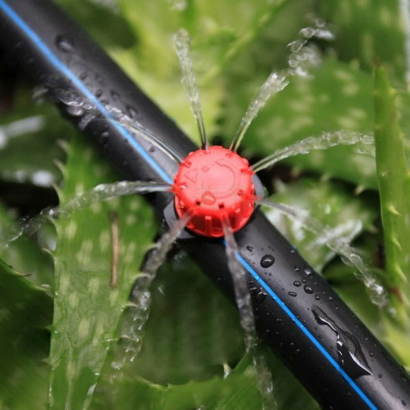 100pcs set Sprinkler Garden Irrigation Micro Flow Dripper Drip Head Irrigation Sprinklers Adjustable Water Dripper Head 100pcs/set Sprinkler Garden Irrigation Micro Flow Dripper Drip Head Irrigation Sprinklers Adjustable Water Dripper Head
