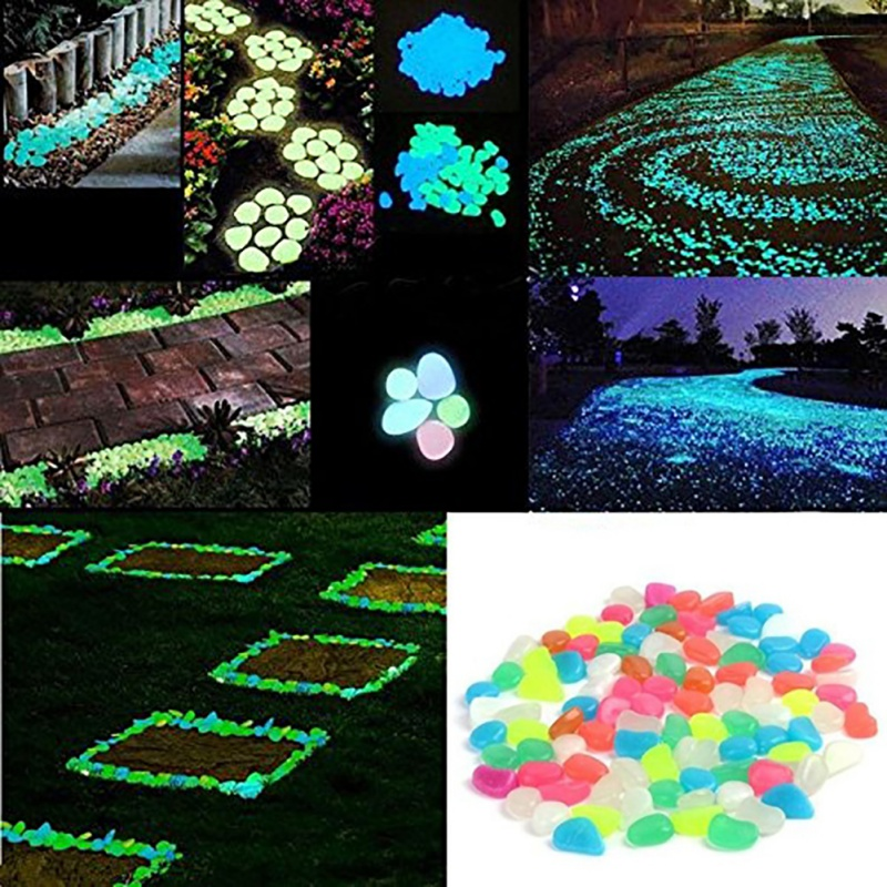 100pcs Home Decoration Ornaments Crafts Glow In The Dark Luminous Pebbles Stones For Romantic Festive Events Supplies