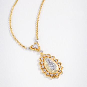 S925 Sterling Silver Antique Palace Elegant Pendant Necklaces For Women