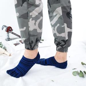 Image 2 - Veridical 5 Paren/partij Katoenen Sokken Met Tenen Kleurrijke Lente Zomer No Show Enkel Koele Sokken Voor Man Vintage Vijf Vinger sokken