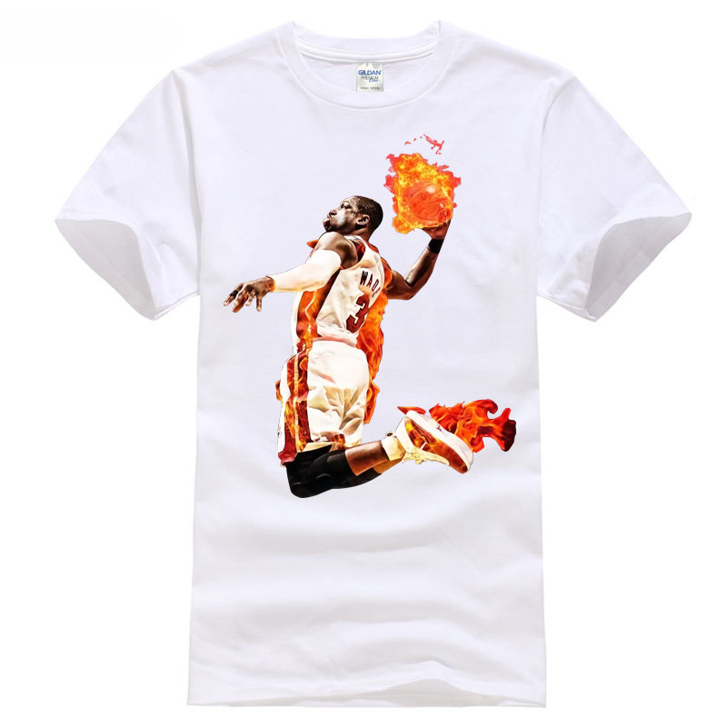 Wade playoff basketballer games NO.3 Fire MVP Miami city sporter T-Shirt all sizes new