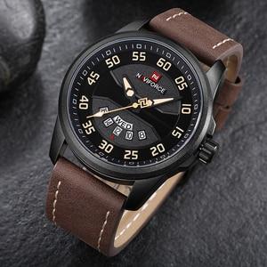 Image 4 - New Luxury Brand NAVIFORCE Men Fashion Casual Watches Mens Quartz Clock Man Leather Strap Army Military Sports Wrist Watch
