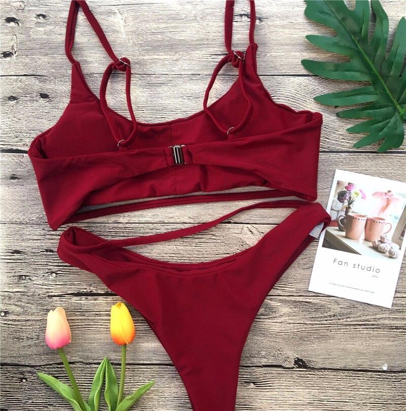 HTB1GyE kvDH8KJjy1Xcq6ApdXXai Ariel Sarah 2019 Bikini Set Sexy Swimwear Swimsuit Hollow Out Bathing Suit Women Push Up Bikini Solid Maillot De Bain Femme