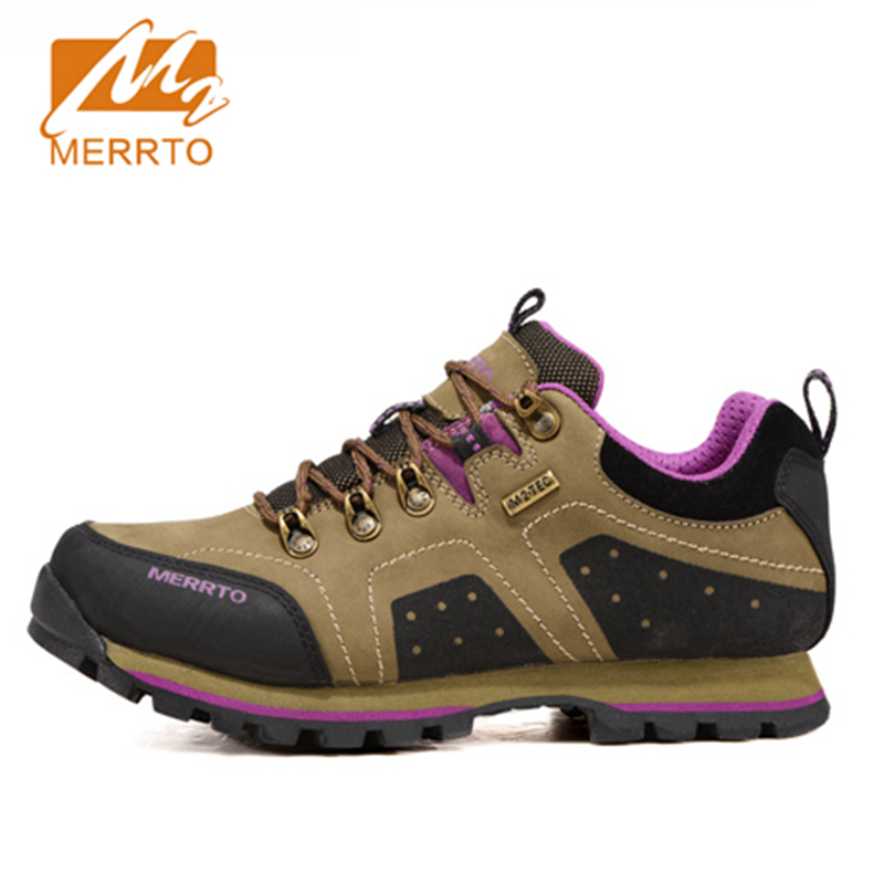 2017 Merrto Women Walking Shoes M2-TEC Waterproof Outdoor Sports Shoes Full-grain leather For Female Free Shipping MT18516