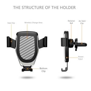 Image 5 - Montaj Tutucu Telefon araba şarjı 360 Hiçbir Manyetik telefon standı Iphone Samsung Için S10 Artı Xiaomi telefon standı Hava Firar