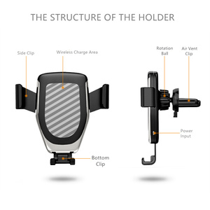 Image 5 - Mount Holder For Phone In Car charger 360 No Magnetic Phone Stand For Iphone Samsung S10 Plus Xiaomi Phone Stand Air Vent