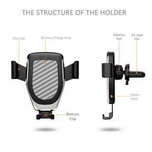 Image 5 - Suporte de montagem para o telefone no carregador de carro 360 nenhum suporte magnético do telefone para o iphone samsung s10 plus xiaomi suporte do telefone ventilação ar