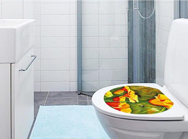 Fundecor diy waterdichte plant bloem wc sticker voor badkamer