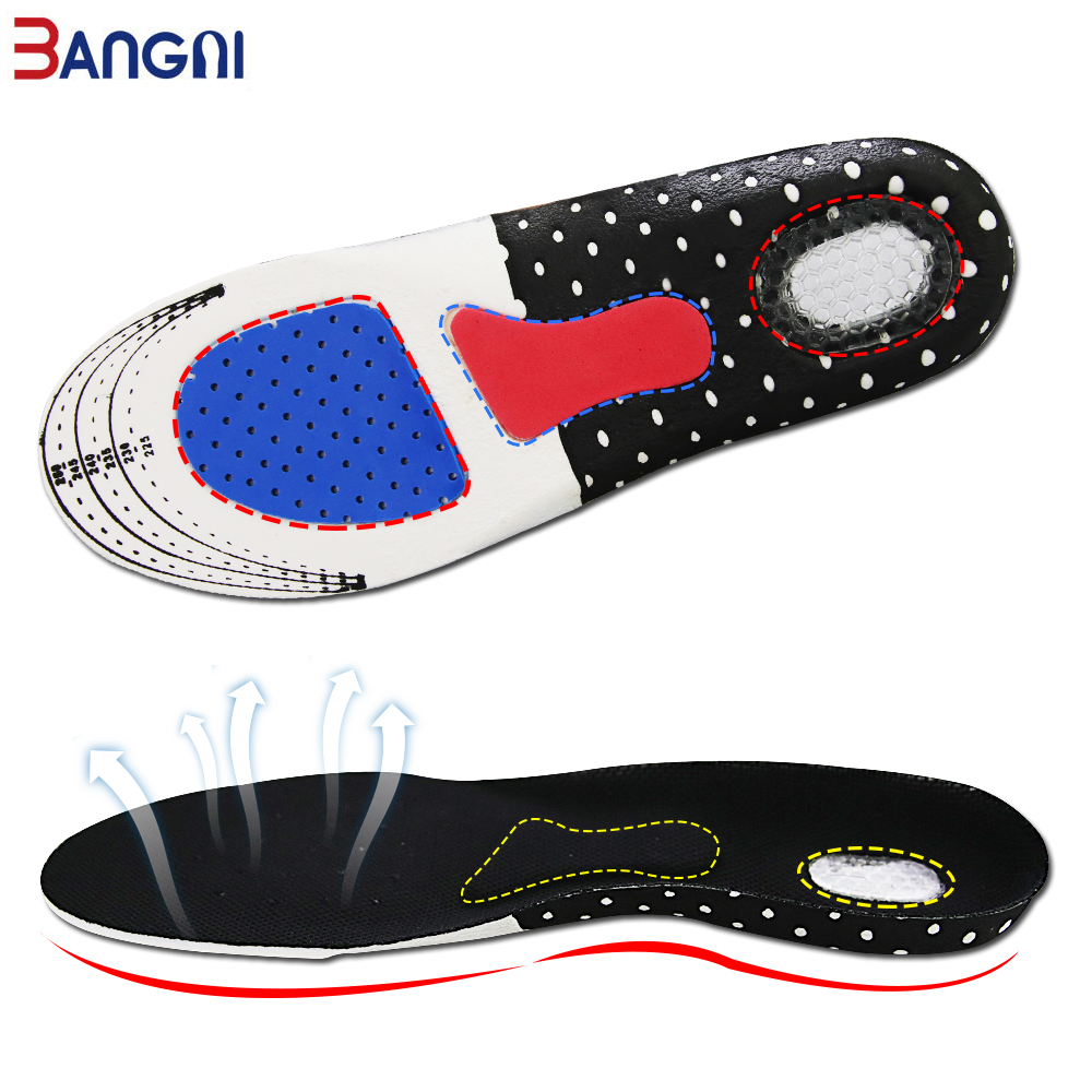 3ANGNI  Orthotic Orthopedic Arch Support Flat Feet  Sport Basketball Gel  Insert Cushion Pronation For Men Women Shoes Insoles