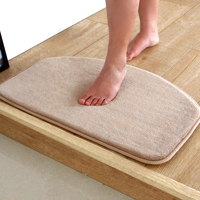 2016 Hot Sale Free Shipping 5 Solid Colors Available Toilet Bathroom Rugs 40 60cm Bath
