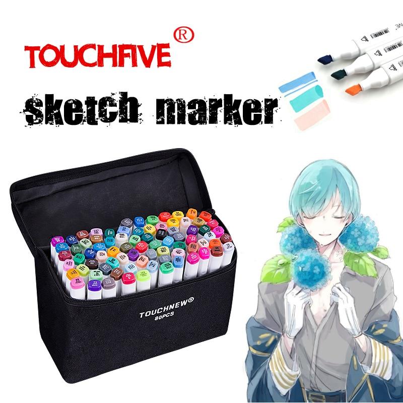 TouchFIVE 30/40/60/80/168 Farben Kunst Marker Set Dual Headed Künstler Skizze Fettige pinsel stifte