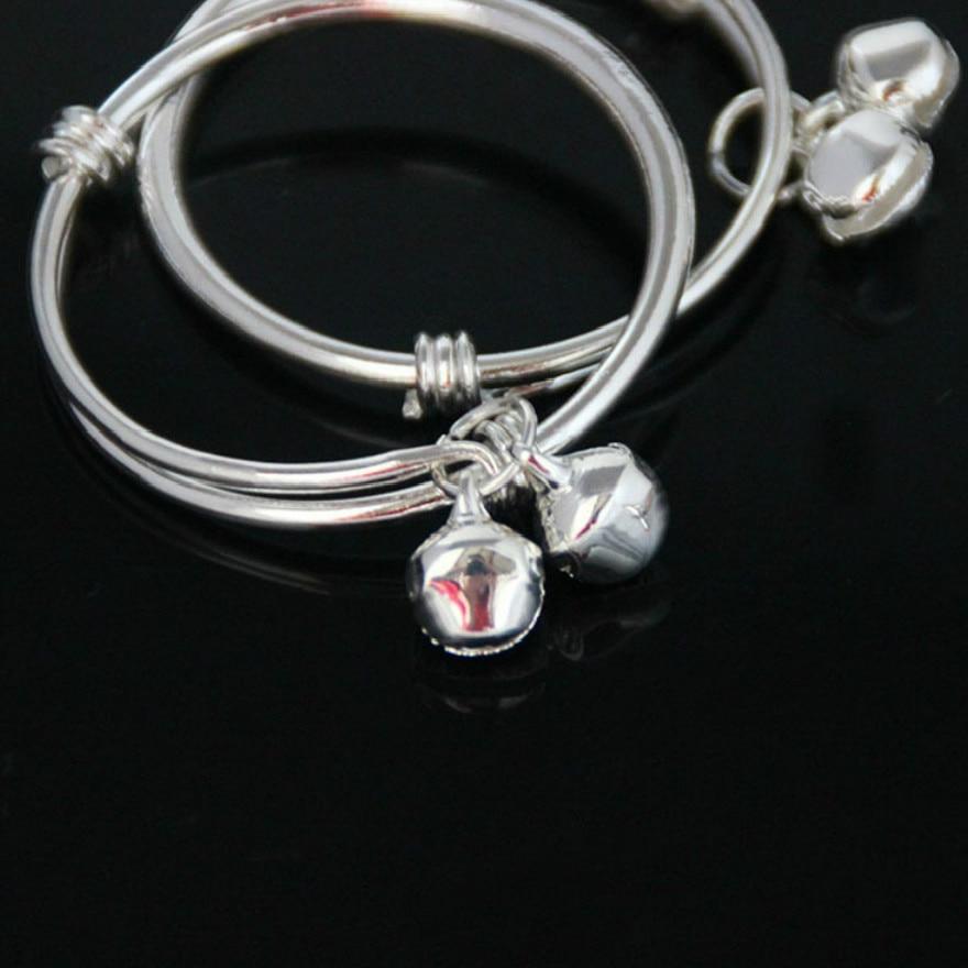 1 Pcs Verkaufen Kinder Silber Überzogene Id Armbänder Silber Überzogene Die Bellbracelets Kinder Legierung Mode Hand Oberleitung