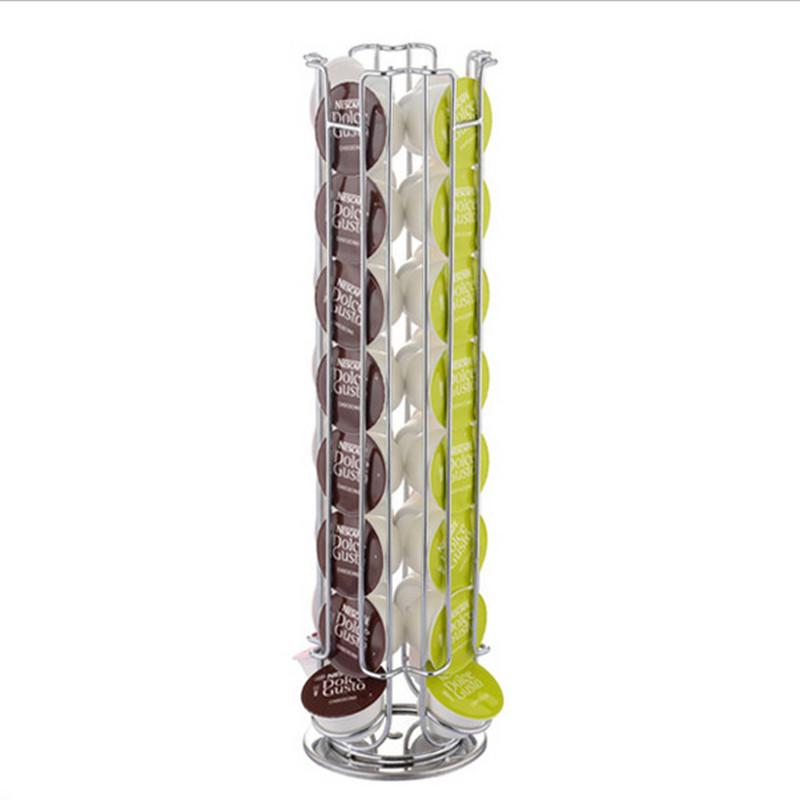 24 32 pcs Dolce Gusto Coffee Capsule Pods Holders Shelves Storage Racks Metal Rotatable in Storage Holders Racks from Home Garden