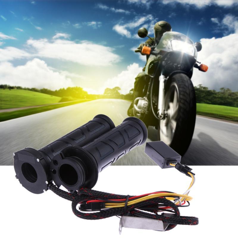 Motocicleta Universal manejar climatizada puños eléctrico modificado termostato agarre del manillar para KTM Honda Yamaha Suzuki Moto Grip negro