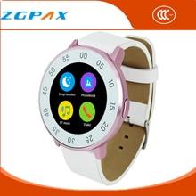 ZGPAX 2016 Bluetooth Smart Uhr für Android/IOS Reloj Smartwatch Mujer MTK2502 Runde Schrittzähler Männer Armband Mp3-player