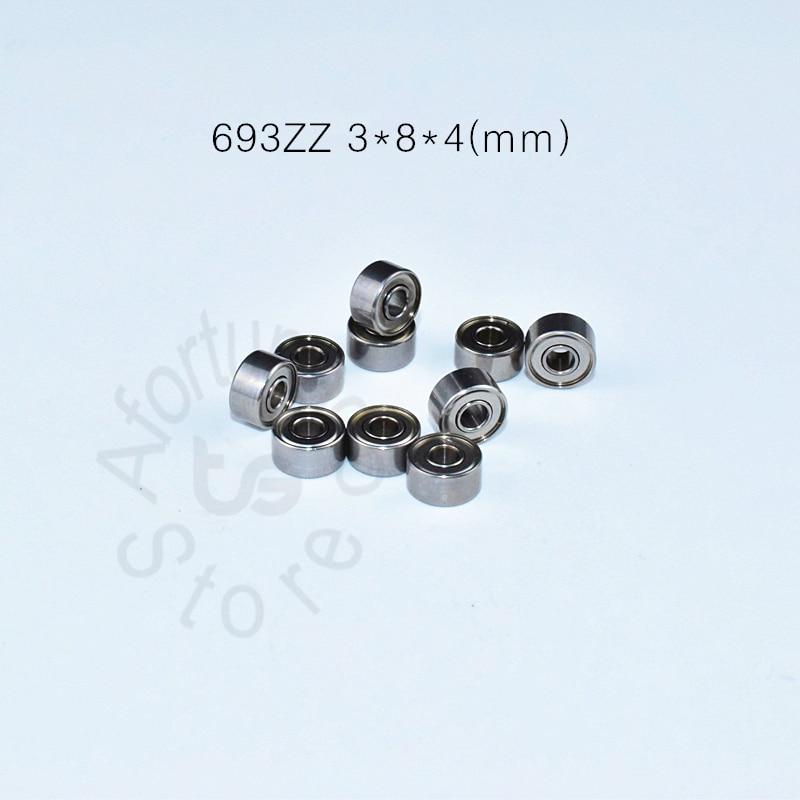 693ZZ 3*8*4(mm) 10pieces Free Shipping  Bearing ABEC-5 Metal Sealed Miniature Mini Bearing  693 693Z 693ZZ Chrome Steel ABEC-5