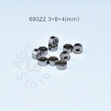 693ZZ Bearing ABEC-5 10pcs Metal Sealed Miniature Mini Free shipping 693 693Z 3*8*4MM chrome steel