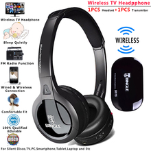 Bingle B616 2019 Универсальный Silent Disco аудио студии на ухо Wirless гарнитура RF Беспроводной наушники для ТВ PC смартфон