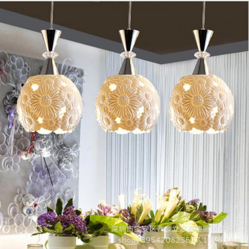 modern chinese style ceramics lampshade 3*E27 three heads pendant lamp dining room bar restaurant chandelier ceiling lampDY1203 philips gc8735 80